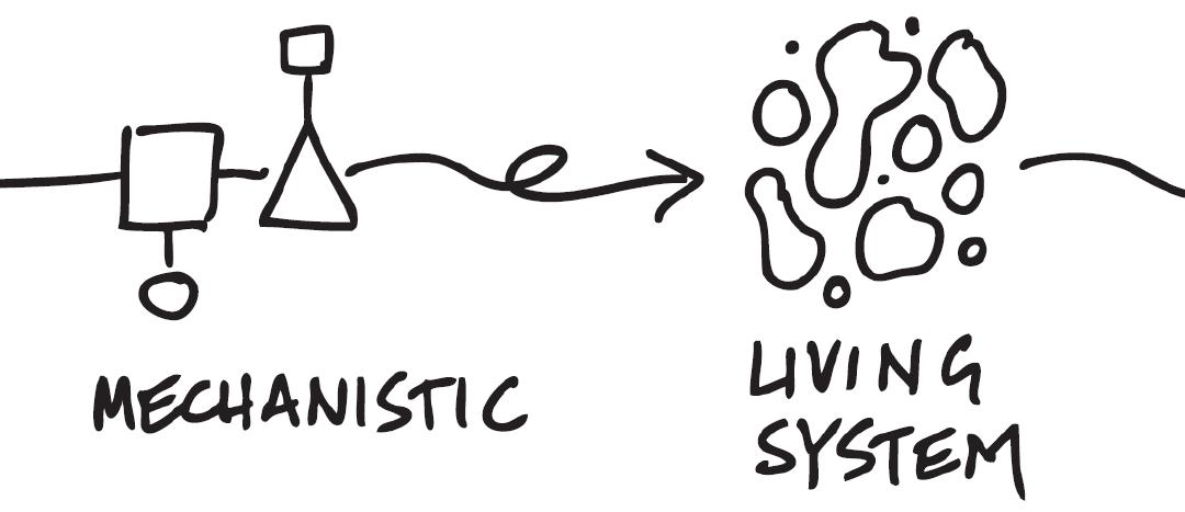 Krachtlijnen voor horizontaal en veerkrachtig organiseren